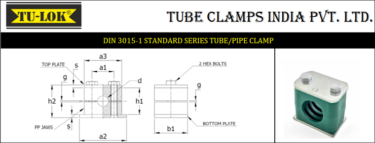 Standard Series Pipe Clamps Sizes